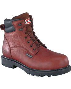 Iron Age Men's Hauler Waterproof Work Boots - Composite Toe, Brown, hi-res