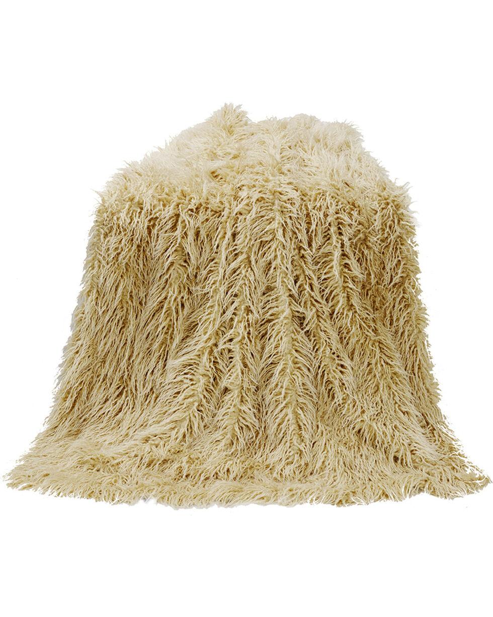 Mongolian Faux Fur Throw, 50X60 Cream, Natural, hi-res