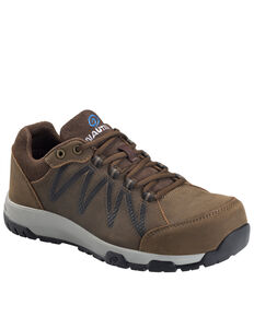 Nautilus Men's Volt Leather Work Shoes - Composite Toe, Brown, hi-res