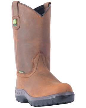 John Deere® Men's WCT Waterproof Work Boots, Tan, hi-res