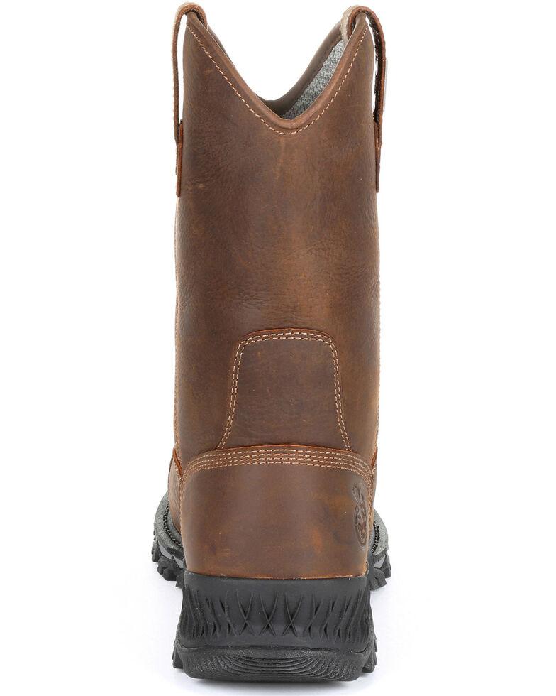 Georgia Boot Men's Rumbler Waterproof Western Work Boots - Composite Toe, Black/brown, hi-res