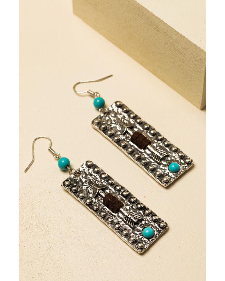 Shyanne Women's In The Oasis Rectangle Arrow Earrings , , hi-res