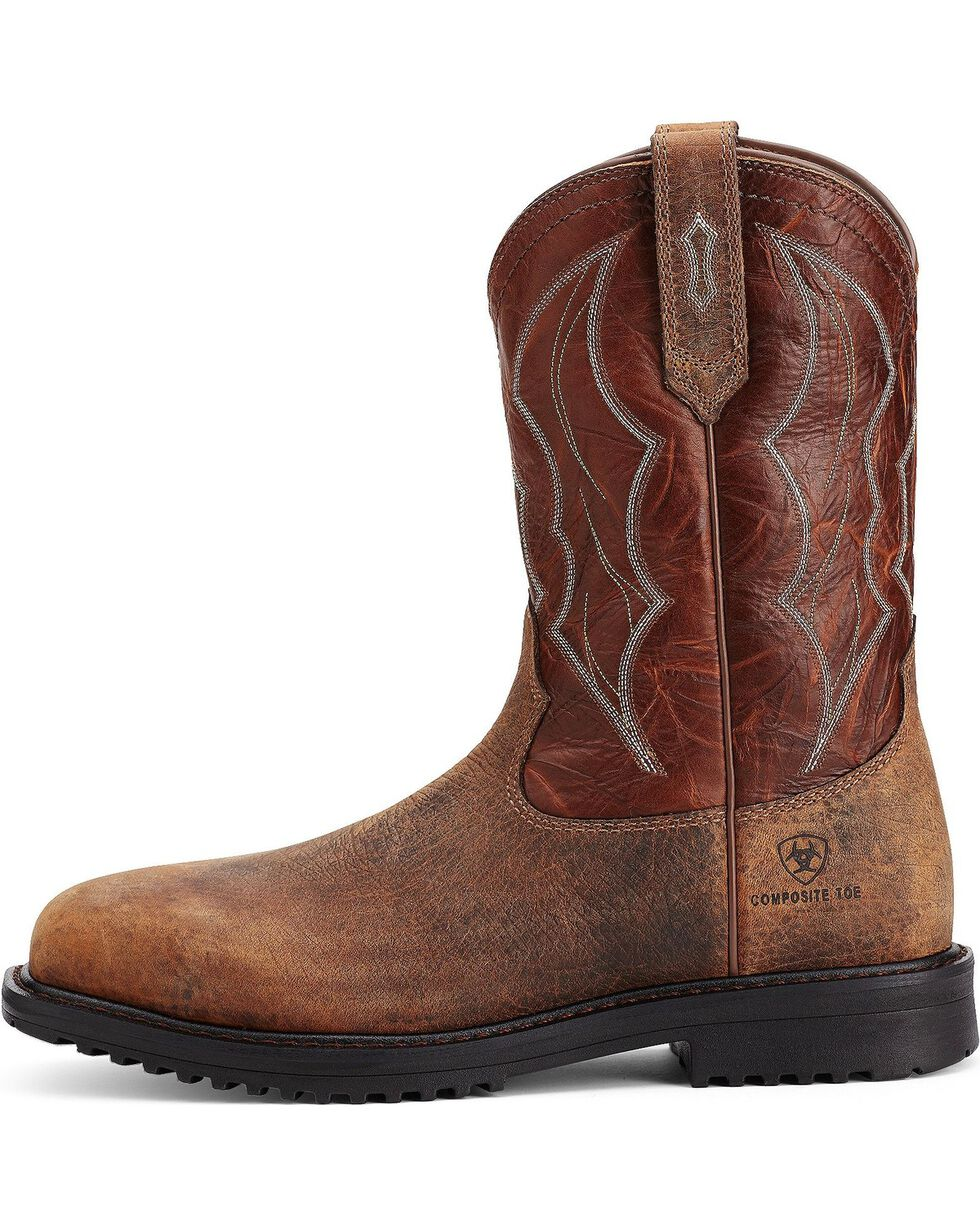 Ariat Men's RigTek Wide Square Toe CT Work Boots, Earth, hi-res