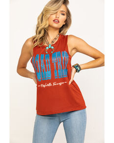 Bohemian Cowgirl Women's Rust Nashville Road Trip Muscle Tank, Rust Copper, hi-res