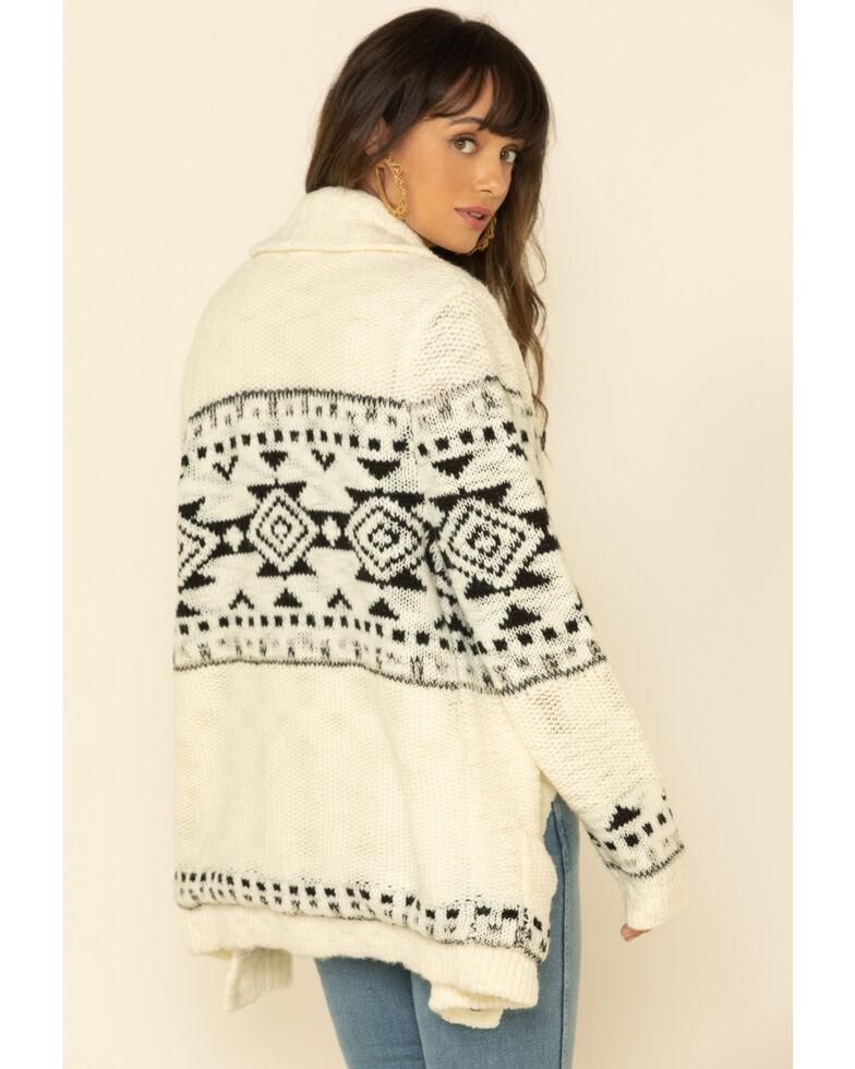 STS Ranchwear Women's Cream Aztec Cheyenne Cardigan , Cream, hi-res