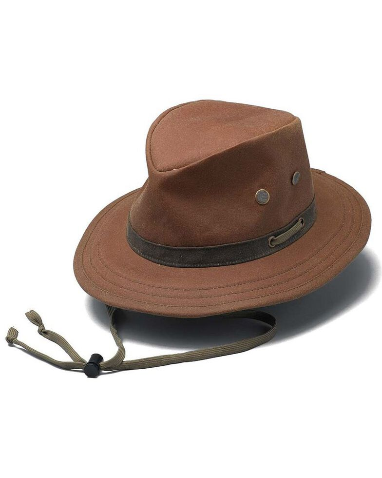 Outback Unisex Oilskin Willis Hat, Tan, hi-res