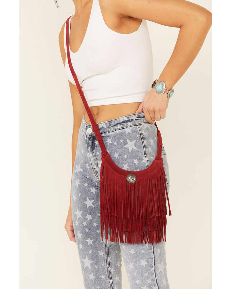 Idyllwind Women's Swing This Fringe Bag, Red, hi-res