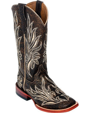 Ferrini Chocolate Vixen Cowgirl Boots - Square Toe, Chocolate, hi-res