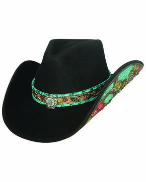 Bullhide Women's Crazy Beautiful Cowgirl Hat, Black, hi-res