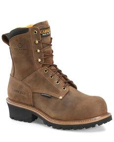 Carolina Men's Poplar Logger Boots - Soft Toe, Brown, hi-res