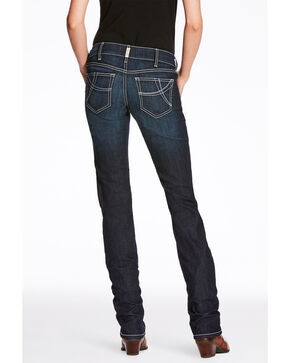 Ariat Women's Splash Supernova Mid Rise Straight Jeans , Medium Blue, hi-res