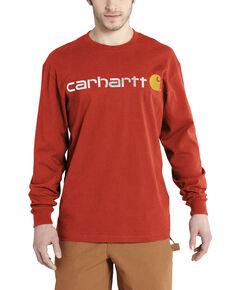 Carhartt Men's Long Sleeve Logo T-Shirt, Orange, hi-res