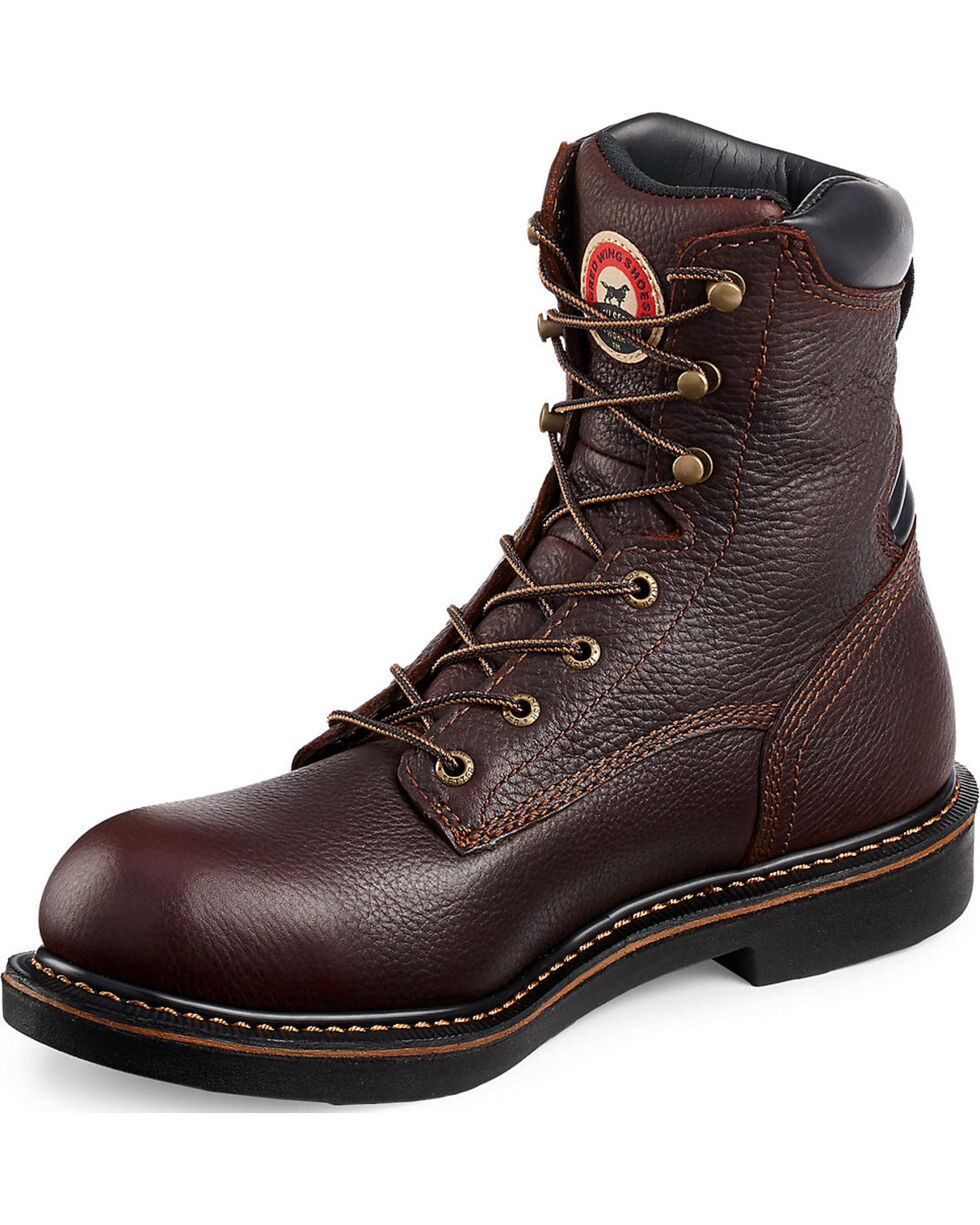 "Irish Setter by Red Wing Shoes Men's Farmington 8"" EH Work Boots - Soft Round Toe, Brown, hi-res"