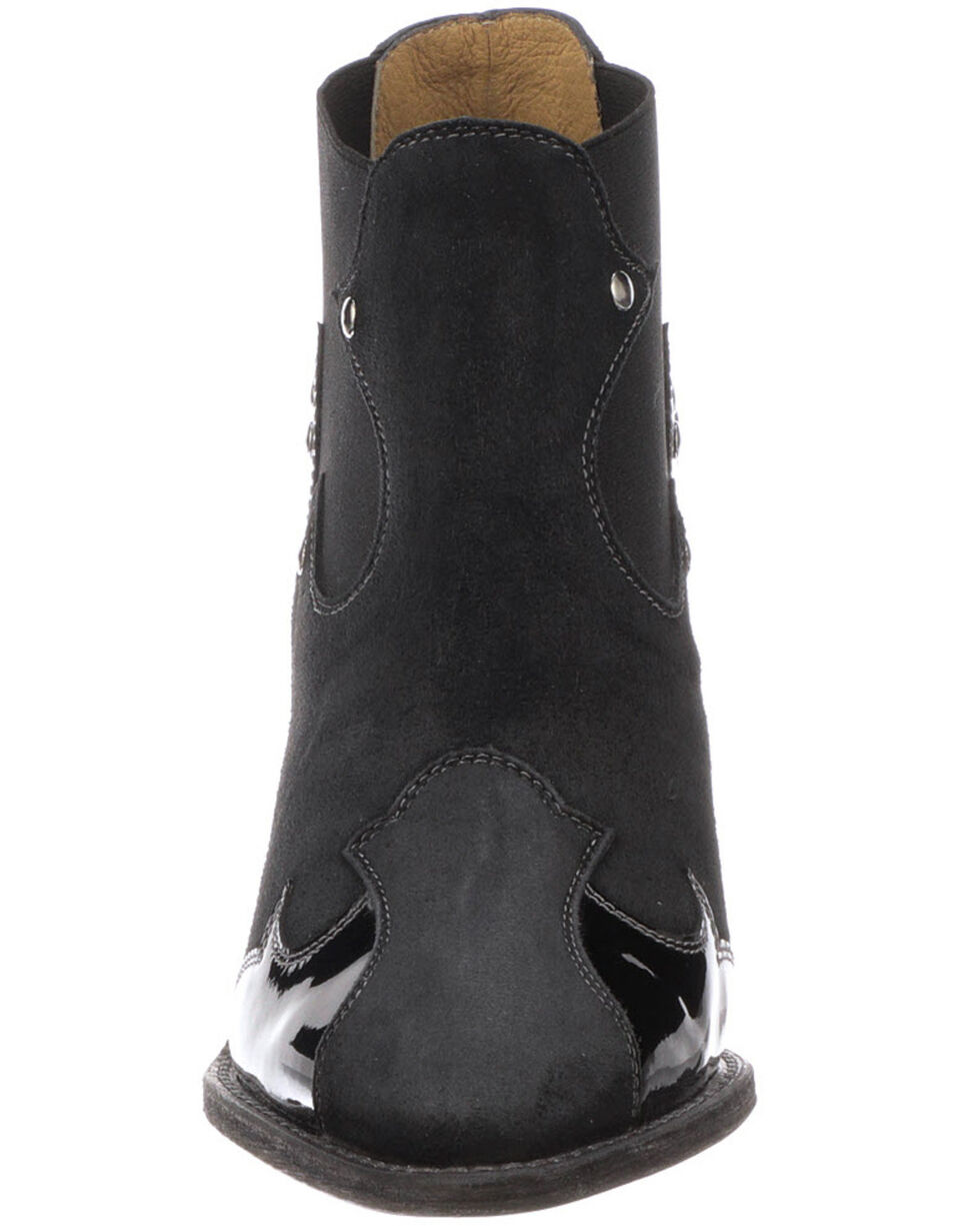 Lucchese Women's Stacy Fashion Booties - Pointed Toe, Black, hi-res