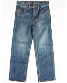Cody James Boys' Bozeman Stretch Slim Boot Jeans - Little , Blue, hi-res