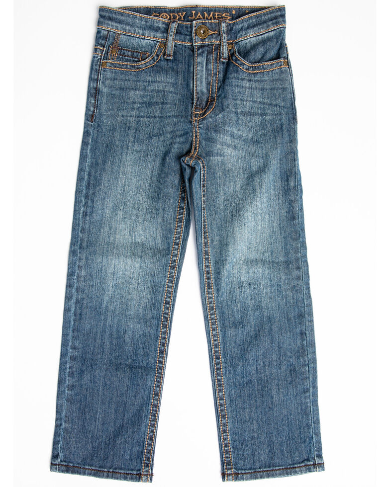 Cody James Boys' Bozeman Stretch Slim Bootcut Jeans - Little , Blue, hi-res
