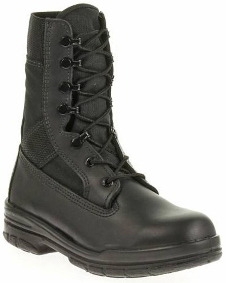 "Bates Women's 8"" Tropical Seals Durashocks Work Boots - Soft Toe, Black, hi-res"