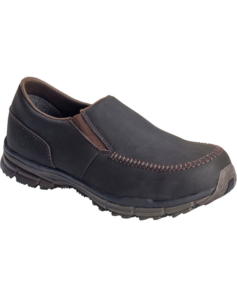 Nautilus Men's Steel Toe ESD Slip On Casual Shoes, Brown, hi-res