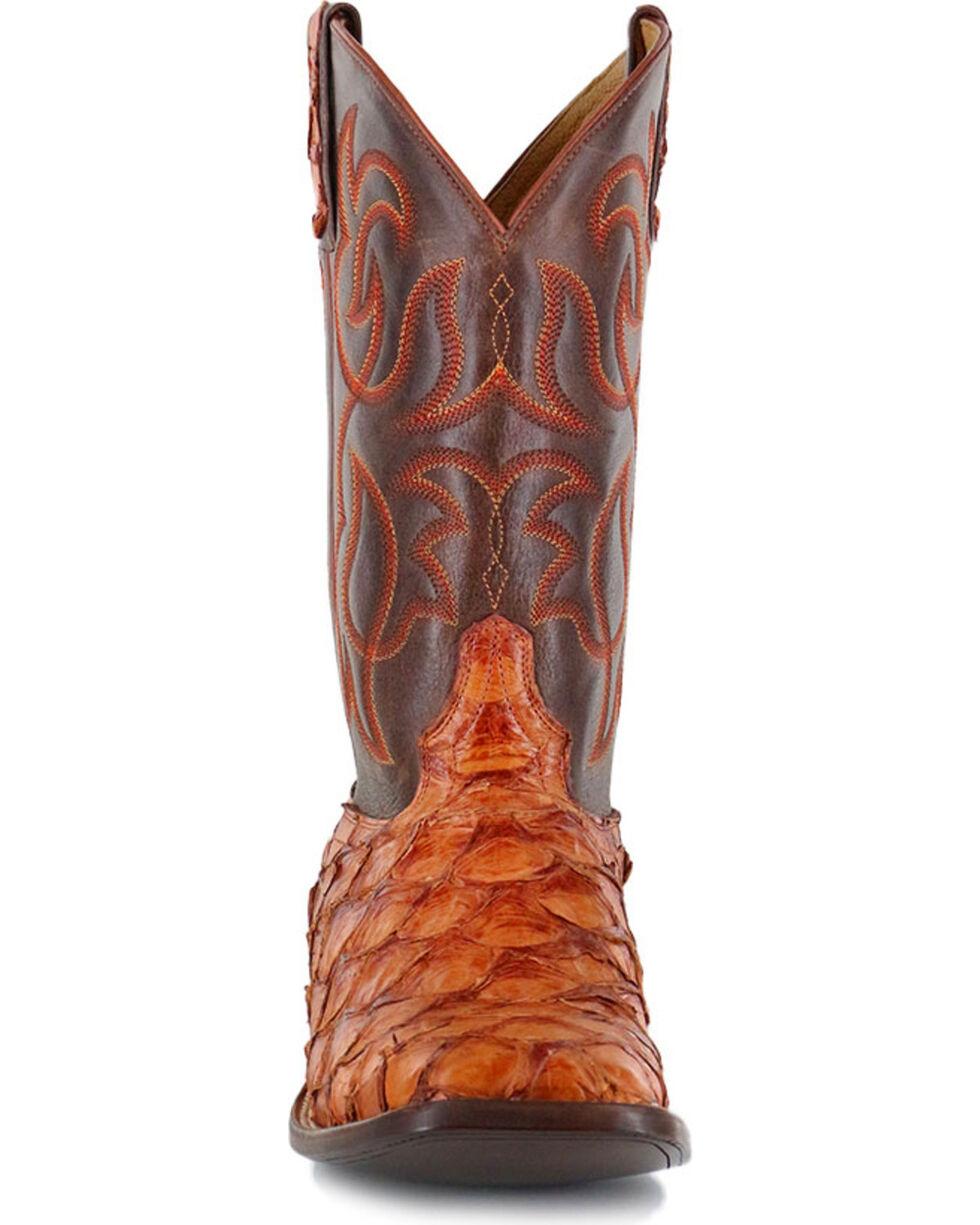 Cody James® Men's Cognac Pirarucu Exotic Boots , Brown, hi-res