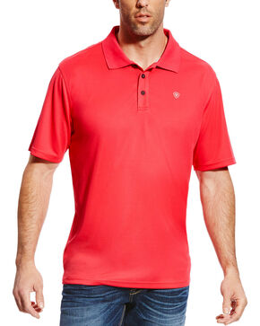 Ariat Men's Tek Polo, Pink, hi-res