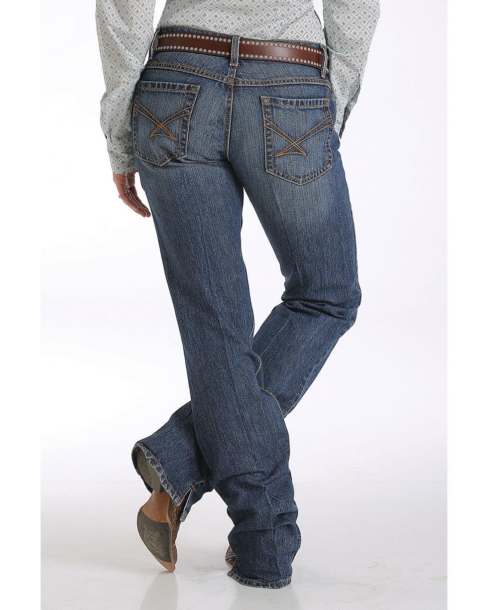 Cinch Women's Kylie Slim Fit  Boot Cut Jeans , Indigo, hi-res