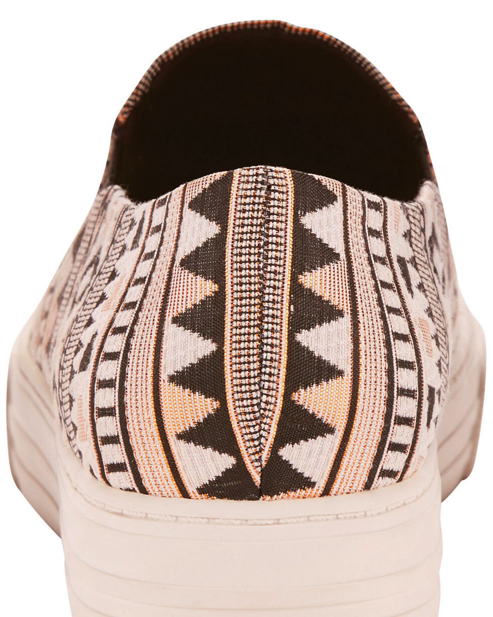 Ariat Women's Unbridled Harlan Tribal Print Slip On Shoes - Round Toe, Black, hi-res