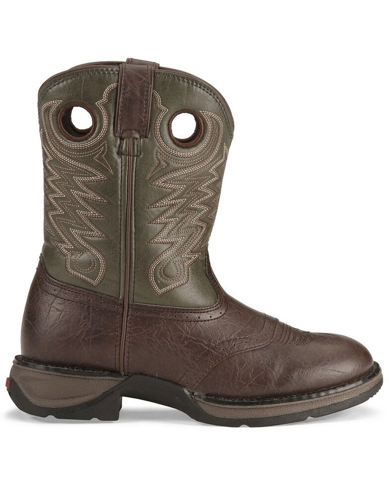 Durango Kid's Rebel Western Boots, Dark Brown, hi-res