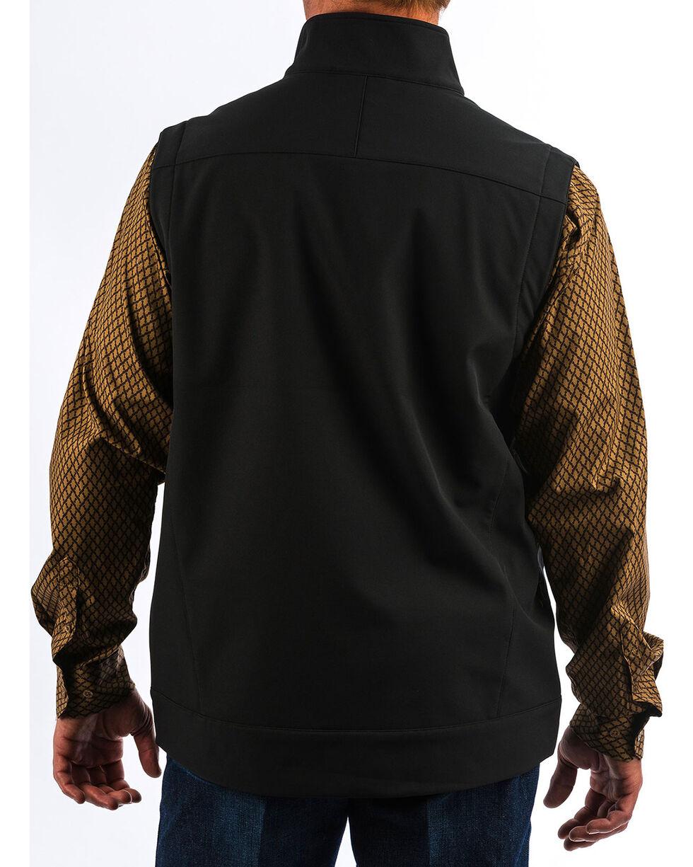 Cinch Men's Solid Black Bonded Vest - Big , , hi-res