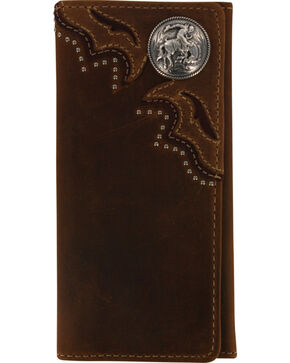 Cody James® Men's Leather Wallet, Brown, hi-res