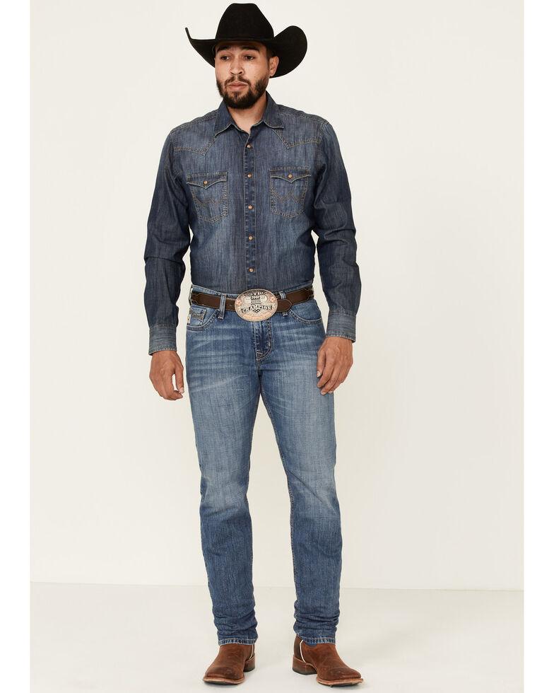 Cinch Men's Jesse Performance Med Stone Slim Straight Jeans  , Indigo, hi-res