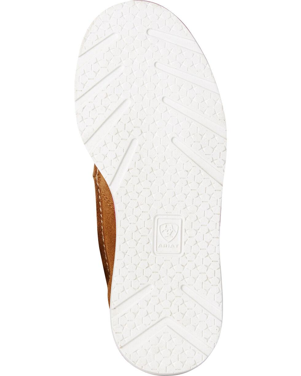 Ariat Girls' Serape Cruiser Fringe Shoes , Brown, hi-res