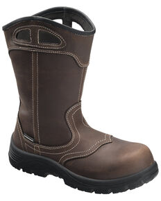 Avenger Women's Framer Waterproof Western Work Boots - Composite Toe, Brown, hi-res