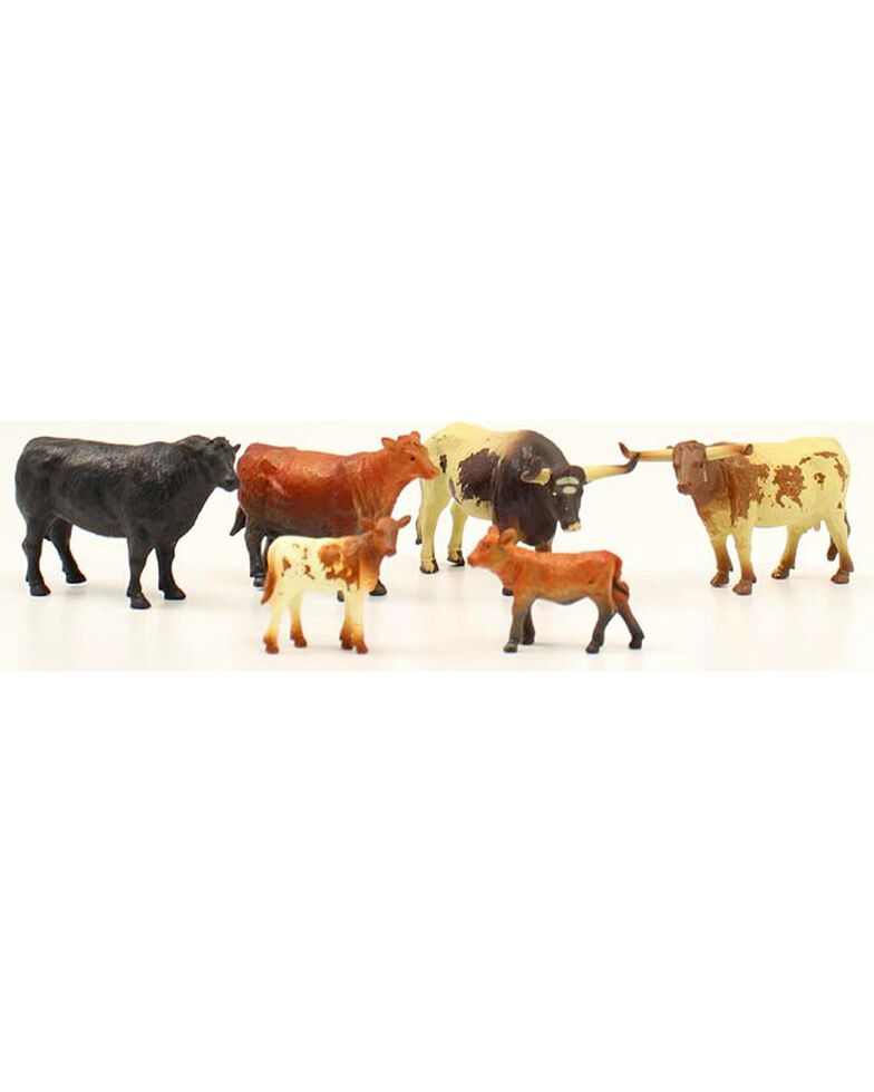 M & F Western Boys' Toy Cow Figures - Set of 6, Assorted, hi-res