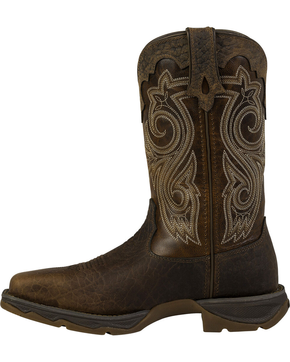 Durango Women's Flirtatious Steel Toe Western Boots, Brown, hi-res