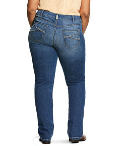 Ariat Women's R.E.A.L. Presley Straight Jeans - Plus, Blue, hi-res