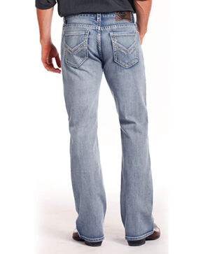 Rock & Roll Cowboy Men's ReFlex Double Barrel Jeans - Boot Cut , Indigo, hi-res