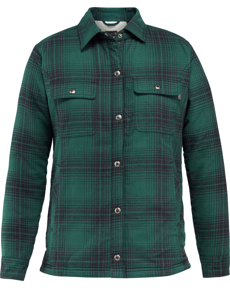 Wolverine Women's Rosewood Sherpa Lined Shirt Jac, Kelly Green, hi-res