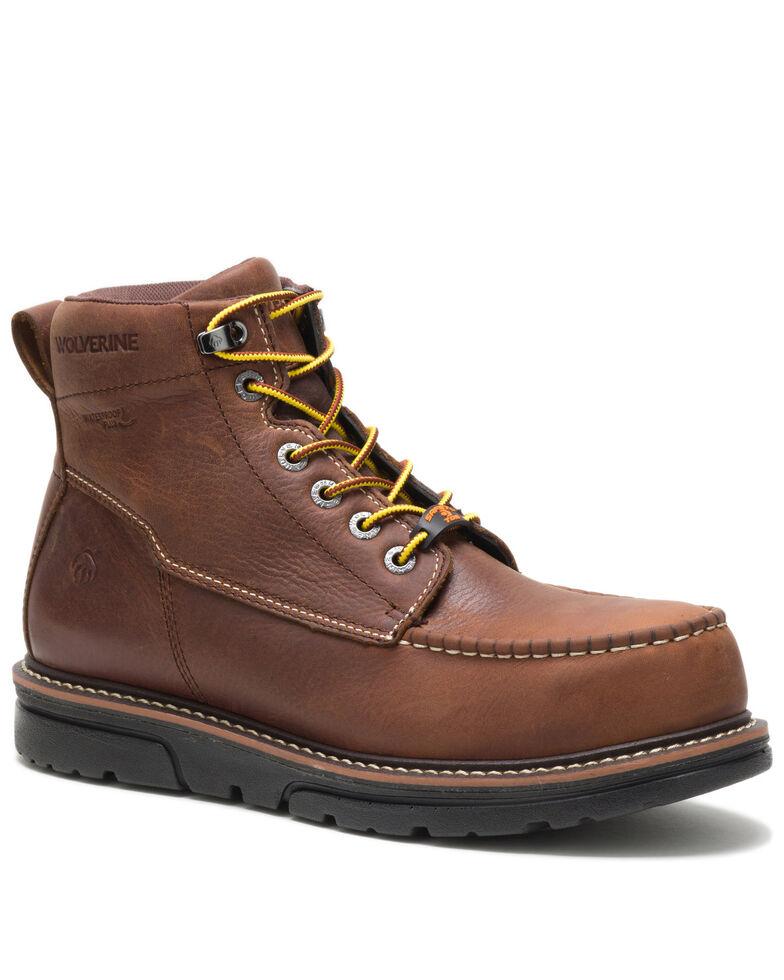 Wolverine Men's I-90 Durashocks Waterproof Work Boots - Soft Toe, Brown, hi-res