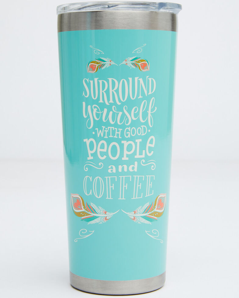 New Creations 22oz Coffee Tumbler Bottle, Turquoise, hi-res