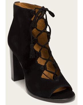 Frye Women's Black Gabby Ghillie Booties - Round Toe , Black, hi-res