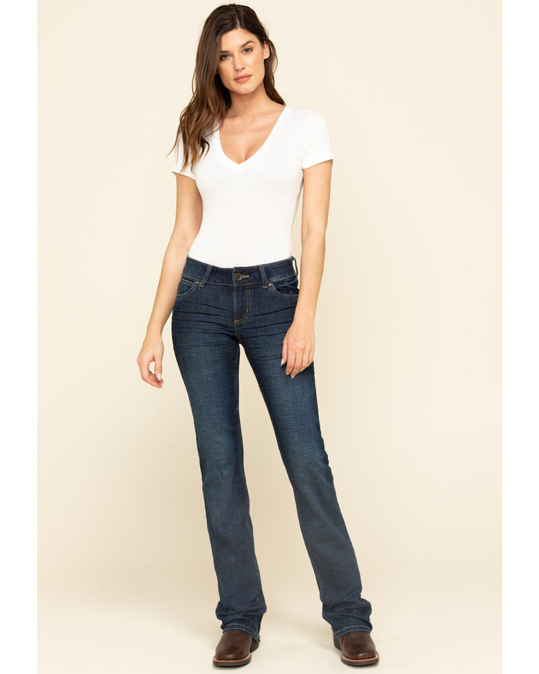 Wrangler Retro Women's Emma Mae Bootcut Jeans, Blue, hi-res
