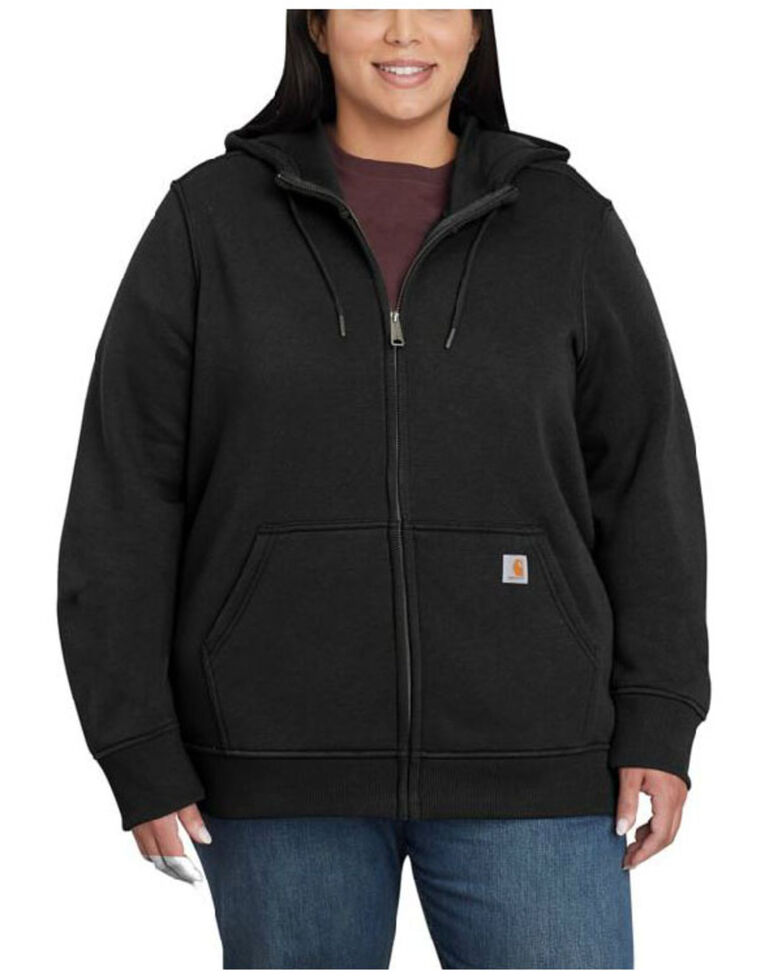 Carhartt Women's Black Clarksburg Full-Zip Hoodie - Plus, Black, hi-res