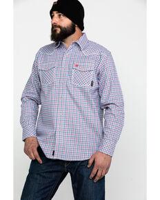 Ariat Men's FR Hartson Retro Plaid Long Sleeve Work Shirt , White, hi-res