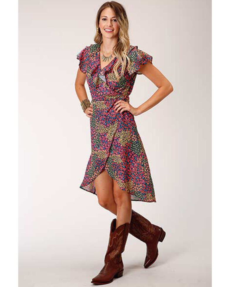 Roper Women's Floral Georgette Dress, Multi, hi-res