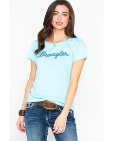 66d34f1f8b4f Wrangler Women s Turquoise Rope Logo Tee