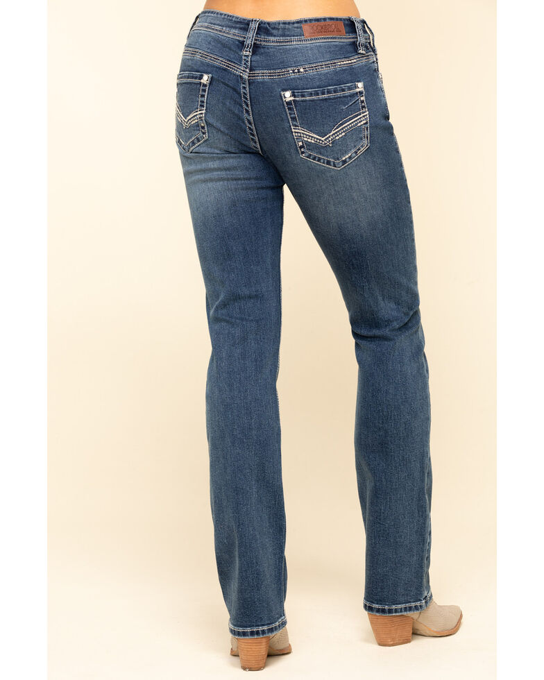 Rock & Roll Denim Women's Medium Boyfriend Straight Jeans, Blue, hi-res