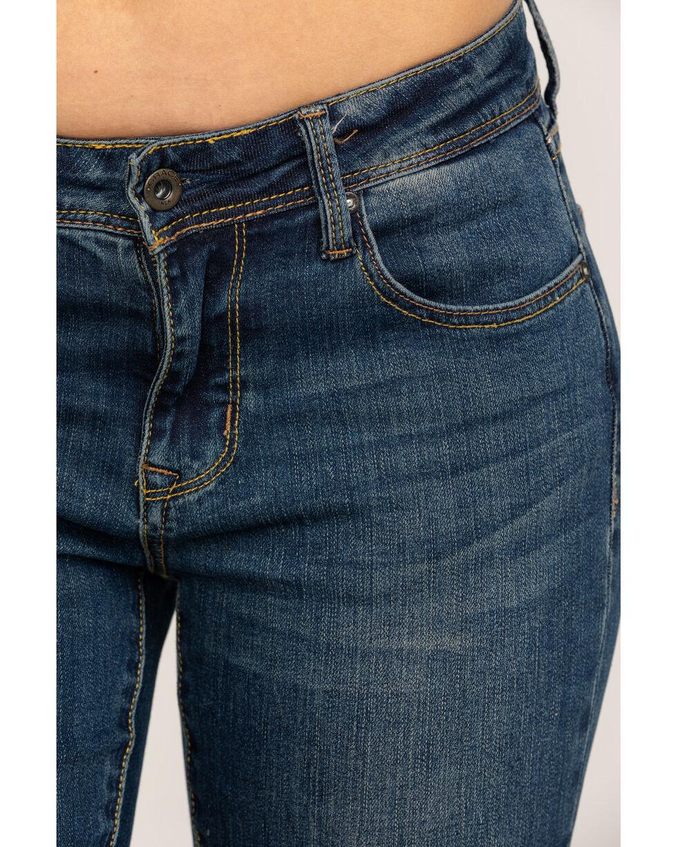 """Grace in LA Women's Medium Clean Bootcut 32"""" Jeans, Blue, hi-res"""