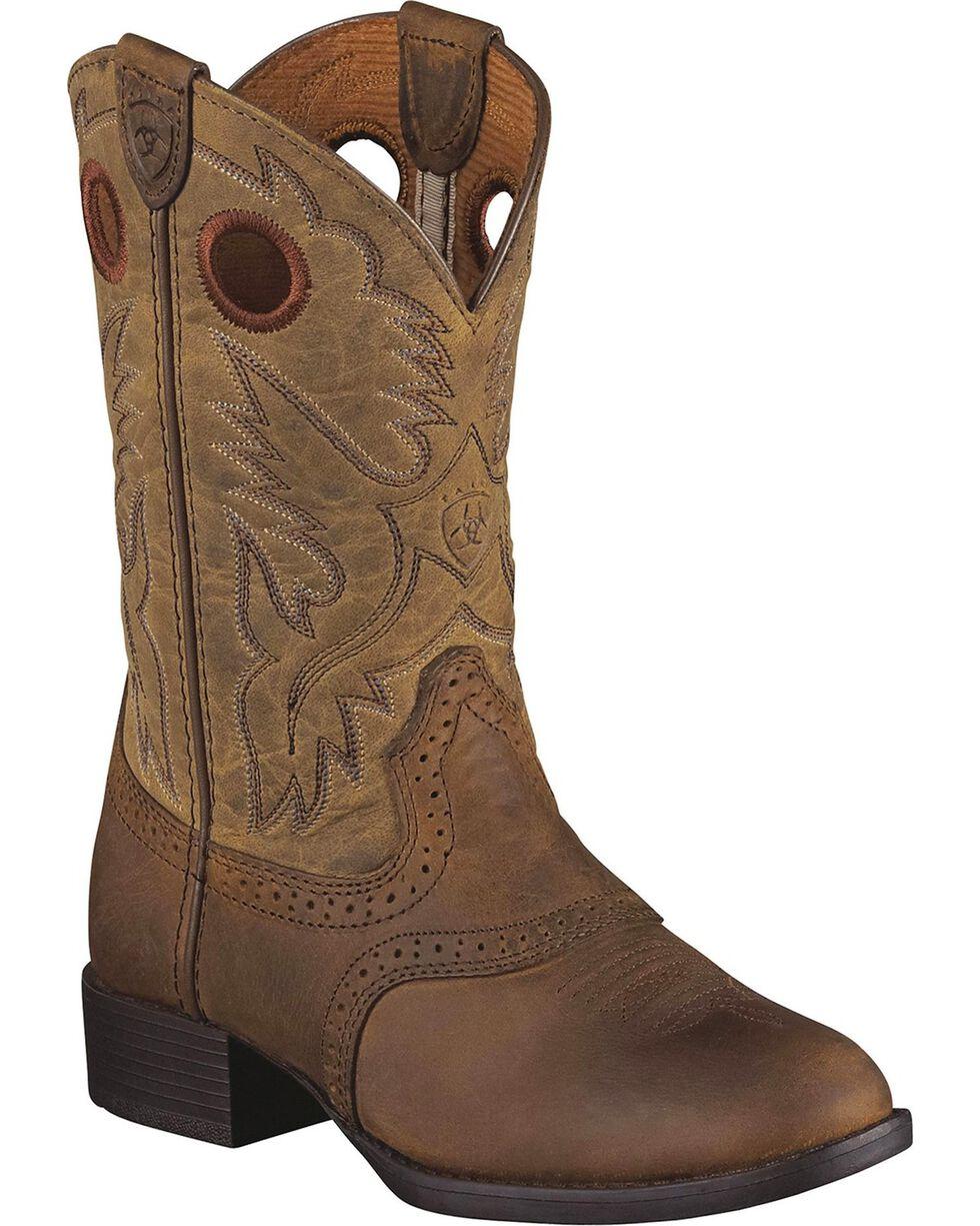 Ariat Children's Heritage Stockman Western Boots, Brown, hi-res
