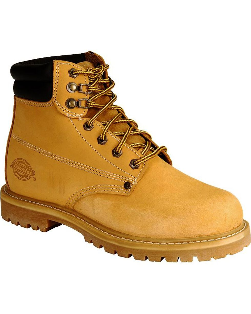 """Dickies Raider 6"""" Lace-Up Work Boots - Round Toe, Wheat, hi-res"""