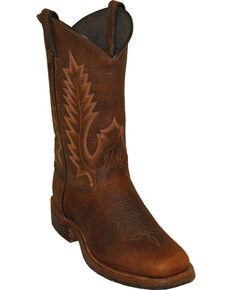 "Abilene Men's 11"" Pioneer Western Boots, Brown, hi-res"